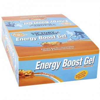 Caja 24 x 42g Energy Boost Gel Naranja Victory Endurance