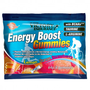 Energy Boost Bonbons 64g Victory Endurance Orange Citron Fraise