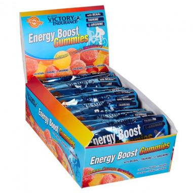 Energy Boost Gummies 12 x 64g Pack Victory Endurance Lemon Orange Strawberry