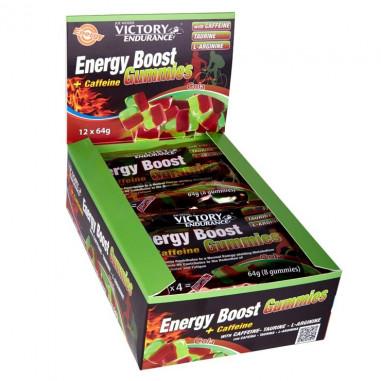 Energy Boost + Caffeine Gummies 12 x 64g Pack Victory Endurance Cola