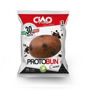 Bollo de Pan CiaoCarb Protobun Fase 1 Cacao 1 unidad 50g