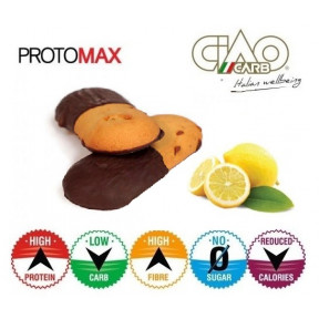Pack de 10 Biscuits CiaoCarb Protomax Lemonchoc Phase 1 Vanille-Citron et Chocolat