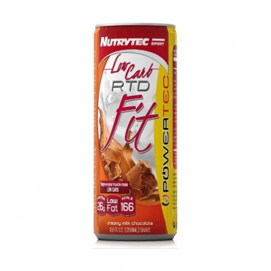 Nutrytec Low Carb RTD Fit (Powertec) Cookies and Cream Flavor 250 ml