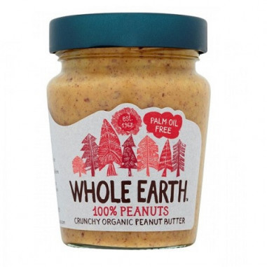 Crema de Cacahuete Crujiente Bio Whole Earth 227 g
