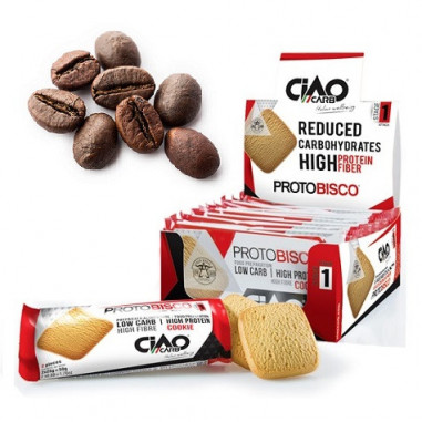 Pack of 10 CiaoCarb Coffee Protobisco Stage 1 Cookies
