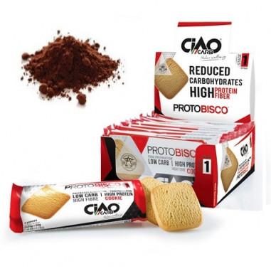 Pack de 10 Biscoitos CiaoCarb Protobisco Etapa 1 Cacau