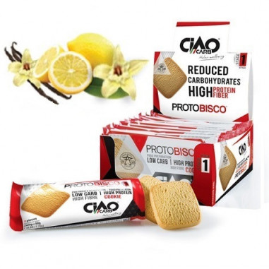 Pack of 10 CiaoCarb Vanilla - Lemon Protobisco Stage 1 Cookies