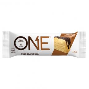 Barre Oh Yeah! ONE goût gâteau au Chocolat et beurre de cacahuète 60 g