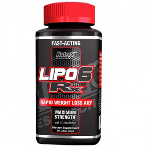 Lipo 6 Rx Maximun Strength Weight Loss Support 60 capsules Nutrex Research