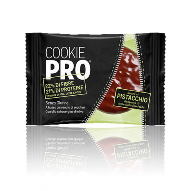 Galleta Cookie Pro Pistacho Cubierta de Chocolate Negro Alevo 13,6 g