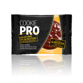 Galleta Cookie Pro Albaricoque Cubierta de Chocolate Negro Alevo 13,6 g