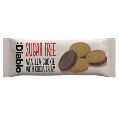 Biscuits à la Vanille Fourrés à la Crème au Chocolat sans Sucre :Diablo 44g