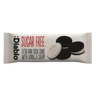 Galletas de Chocolate Rellenas de Crema de Vainilla sin Azúcar :Diablo 176g