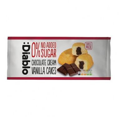 Bolinhos de Baunilha com Creme de Chocolate sem Açúcar Adicionado :Diablo 150g