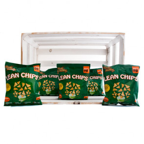 Pack de 36 Lean Chips (Nachos de Proteina) Creme de Leite e Cebola Purely Snacking