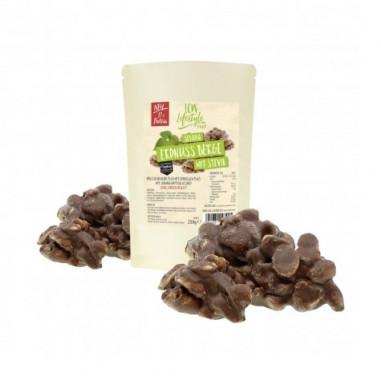 Rocas de Chocolate con Leche y Cacahuetes con Estevia LCW 250 g
