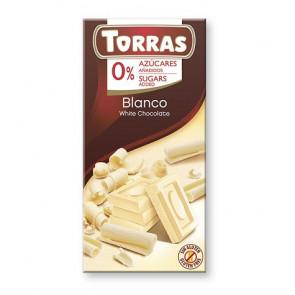 Chocolate Blanco sin Azúcar Torras 75 g