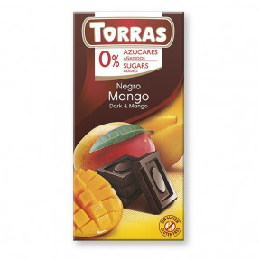Chocolate Negro con Mango sin Azúcar Torras 75g