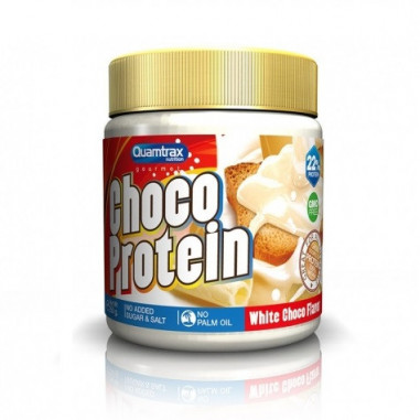 Crema de Chocolate Blanco Choco Protein Quamtrax 250 g