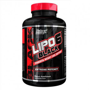 Lipo 6 Black Weight Loss Support 120 capsules Extreme Potency Nutrex Research