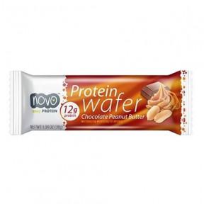Protein Wafer Barquillos Crujientes Sabor Mantequilla de Cacahuete y Chocolate 38g Novo Nutrition