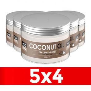 Pack 5 x 4 Óleo de Coco Virgem Certificado Cocofina Pet 450 ml