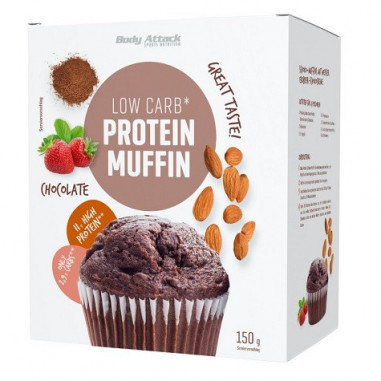Preparado para Muffin Proteico LowCarb Body Attack Chocolate 150g