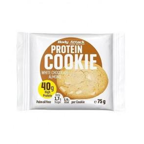 Biscoito de Proteica de Chocolate Branco e Amêndoas Body Attack 75 g