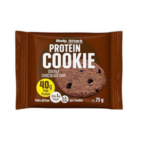 Galleta Proteica de Doble Chocolate Body Attack 75 g