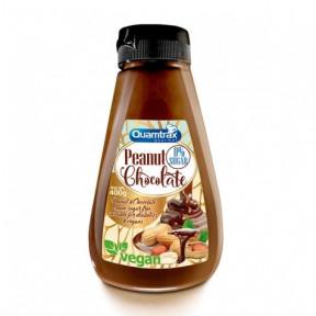 Crema de Cacahuete y Chocolate 0% Azúcar Quamtrax 400 g