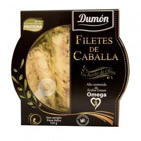 Filets de maquereau à l'Huile d'Olive Dumon 120 g