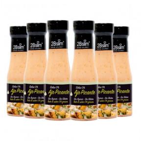 Pack de 6 Sauces à l'Ail Piquantes 0% 2bSlim 250 ml