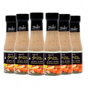 Pack de 6 Molho de Alho às Finas Hierbas 0% 250 ml
