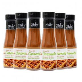 Pack de 6 Xarope de Caramelo 2bSlim 0% 250 ml