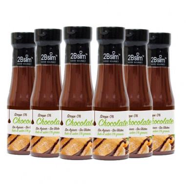 Pack de 6 Sirope de Chocolate 0% 2bSlim 250 ml