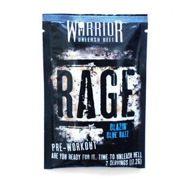 Pre Entreno Rage Sabor Blue Razz Warrior Monodosis 17.2 g