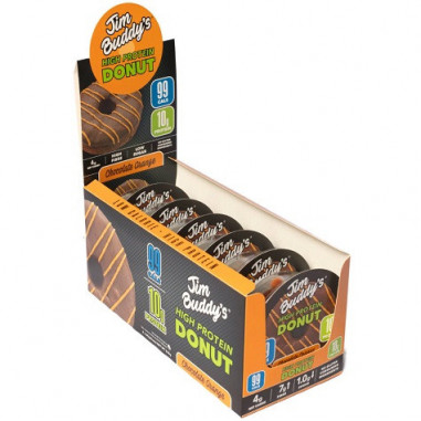 Pack de 6 Donut Proteico Sabor Chocolate-Naranja Jim Buddy's