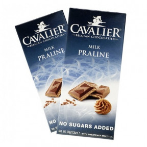 Chocolate com Leite e Praliné Cavalier 85 g