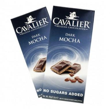 Tableta de Chocolate Negro con Moca Cavalier 85 g