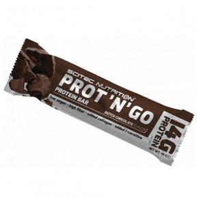 Barrita Proteica Low-Carb Prot 'N' Go Chocolate de Scitec Nutrition 45 g