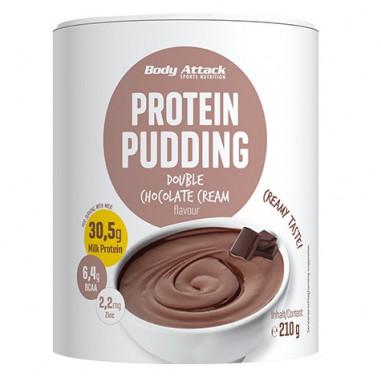 Preparado para hacer Natillas Proteicas de Chocolate Body Attack 210g