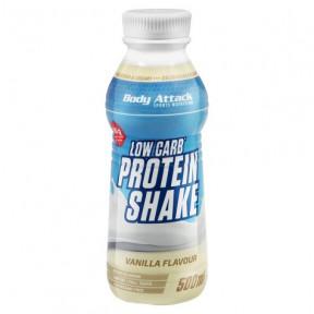Shake Protéiné Low-Carb Goût Vanille Body Attack 500 ml