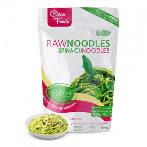 Raw Pasta Konjac Noodles avec Épinards Clean Foods 200 g