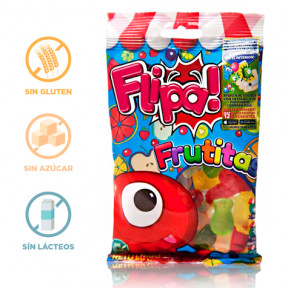 Flipa Sugarless Gummies Fruits 80 g