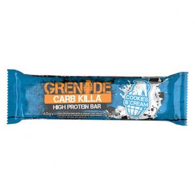 Barre Protéinée Carb Killa goût Biscuits à la crème Grenade 60 g