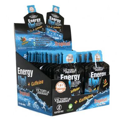 Caja 24 x 40g Energy Up! + Cafeína Gel Victory Endurance Tropical