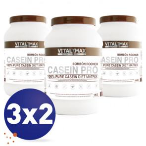 Pack 3x2 Casein Pro 100% Pure Casein Diet Matrix Flavor Bombón Rocher 1 kg