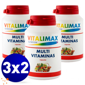 Pack 3 x 2 multivitamínico 100 Cápsulas Multimineral Vitalimax Nutrition