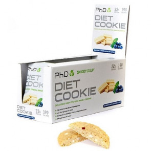 Galleta Proteica sabor Arándanos con Chocolate Blanco Diet Cookie PHD 50 g