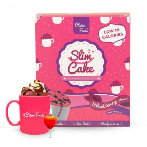 Mug Cake Low-Carb Slim Cake goût Myrtilles Clean Foods 300 g